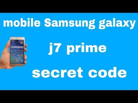 mobile Samsung galaxy j7 prime secret codes