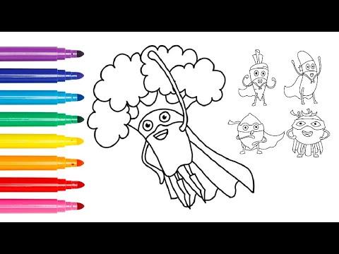 5 Süper Kahraman Sebze çizim Ve Boyama Youtube