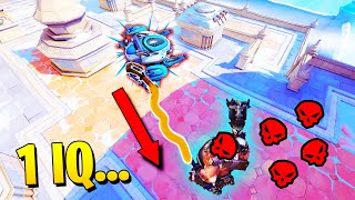 1 IQ Roadhog helps the enemy team..! - Funny Clips & Insane Outplays - Overwatch Moments Montage