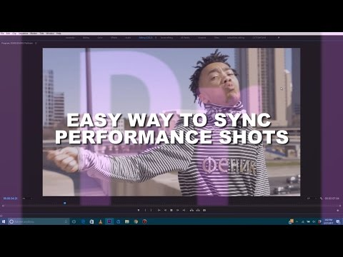 How to EASILY Sync Your Music Video Perfomance Shots to The Audio | Adobe Premiere Pro