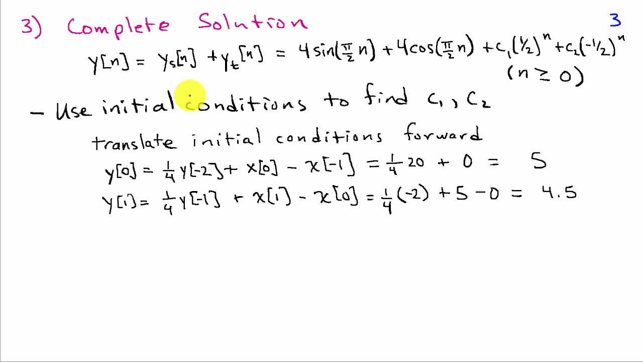 Solving Difference Equations: A Worked Example