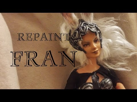 Repaint! Barbie Made to Move  Fran Final Fantasy XII OOAK