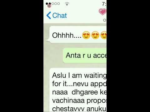 Most cutest proposal in Telugu/boy...