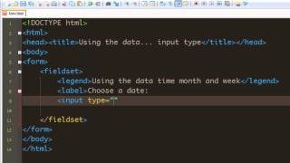 Html 5 Forms tutorial - 09 - Using Date, Time, Month, Week input type.mp4 Mp3