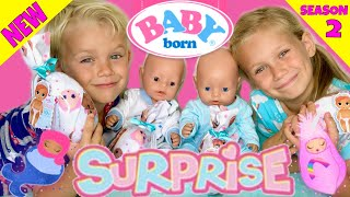 🤗Baby Born Surprise Scavenger Hunt! 😲Baby Born Twins Open New Surprise Dolls With Skye & Caden!😃