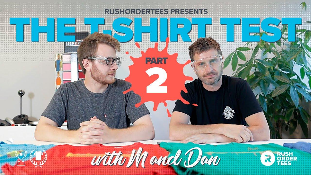 Cotton vs Poly vs 50/50 vs Tri-blends: The T-Shirt Test Part 2