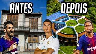 A CASA DOS JOGADORES ANTES E DEPOIS DA FAMA!! (CR7, Neymar, Ibra..)