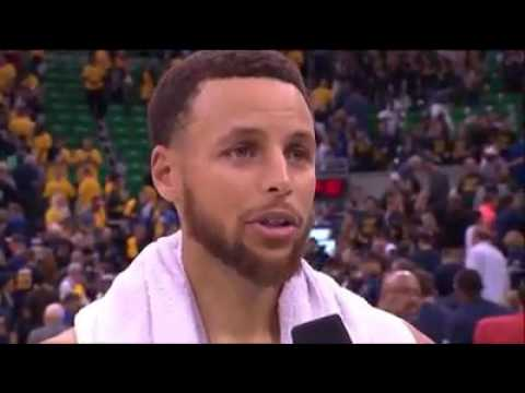Stephen Curry with Lewis Johnson following Game 4. #NBAPlayoffs