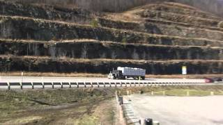 SEMI TRUCKS CLIMBING THE MOUNTAIN IN WEST VIRGINIA