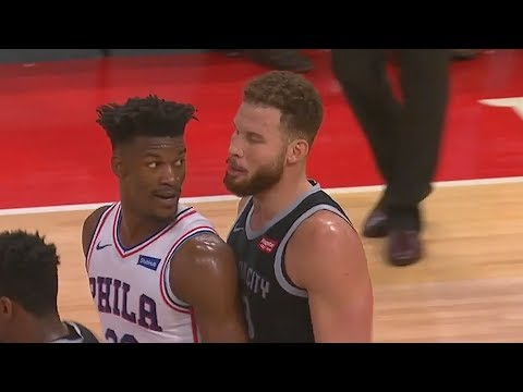 Blake Griffin & Jimmy Butler Get HEATED During Amazing Duel! Sixers vs Pistons