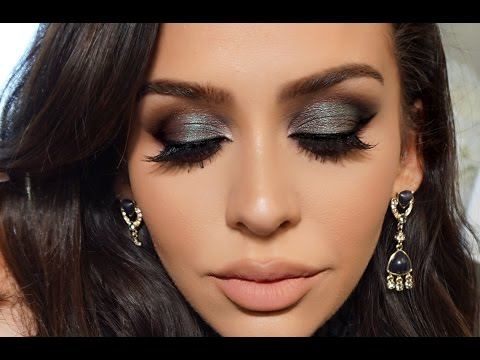Blue/Green Smoke   Dramatic FALL Makeup Tutorial