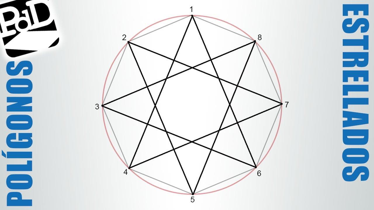 Polígono Estrellado De 8 Puntas Octógono Estrellado Polígonos