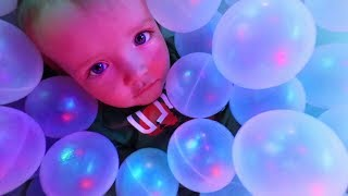 NiKOs FIRST TIME in a BALL PIT! ultimate indoor park with our daredevil kids! (family night routine)