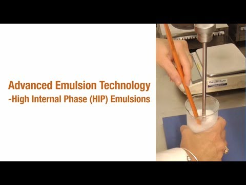 Advanced Emulsion Technology - HIP Emulsions