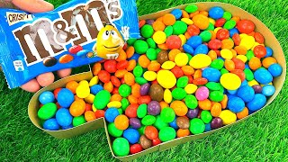 Oddly Satisfying Video l How To Make Rainbow Ice Cream Candy with Colorful Slime Balls Cutting ASMR