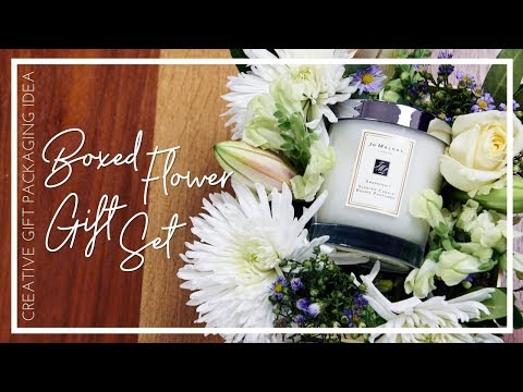 DIY BOXED FLOWER GIFT IDEA | Creative Christmas Gift Packaging | JASMINA BHARWANI