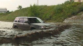 Два часа дождя обернулись Красноярску потопом