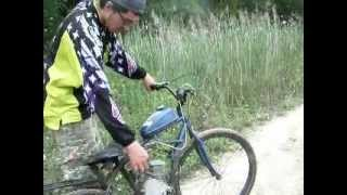mark (me) ripping up some trails on a 80cc motorized bicycle