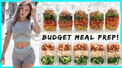 BUDGET Meal Prep | HEALTHY AND CHEAP | Meal Prep On a College Budget