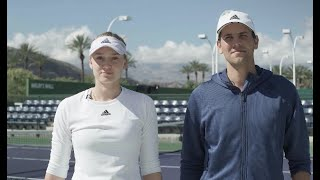Elena Rybakina's Mic'd Up Practice | 2020 Indian Wells