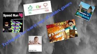 Trying out the worst copy of roblox games