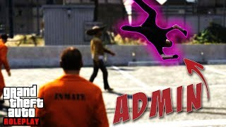Angry Girl Admin gets Clocked by Prisoner! (GTA RP)