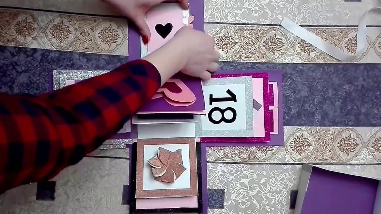 18 rođendan ideje Explosion box/Kutija poklon za 18. rodjendan   YouTube 18 rođendan ideje