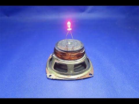 free energy  magnets speaker 100% with  LED light bulbs