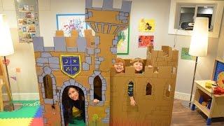 Build A Cardboard Castle Fort
