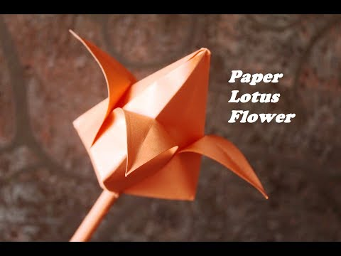 DIY - Origami | How to Make Paper Flowers | Origami Lotus Flower | Paper Lotus Flower