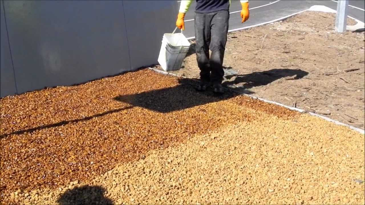 Pour On Gravel Binder By Stoneset Youtube
