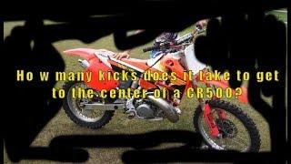 How many kicks does a CR500 take?