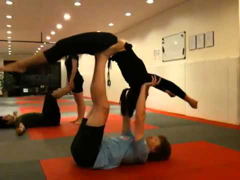 acroyoga  beginner/intermediate sequence  youtube
