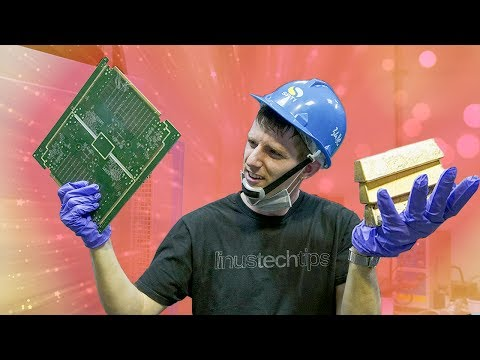 Turning SCRAP Electronics into GOLD BARS!