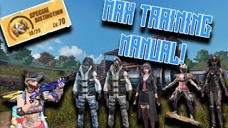 I MAXED THE WHOLE TRAINING MANUAL IN RULES OF SURVIVAL! ROS Mobile