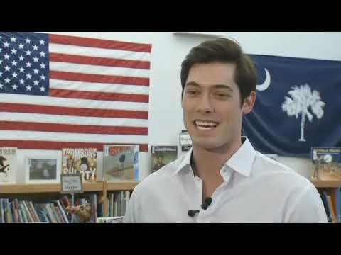 Greenville native Matt William Knowles speaks at Sara Collins Elementary School