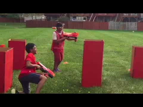 Abhi's 10th birthday !! Nerf gun battle.