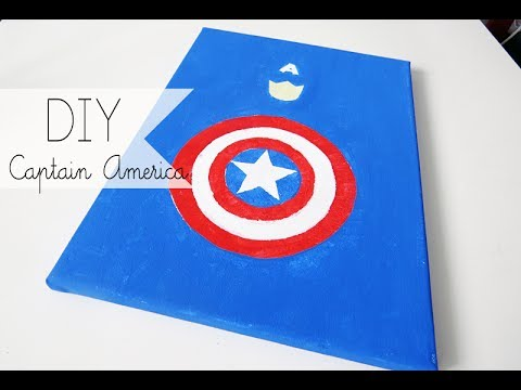 DIY Captain America Canvas Painting