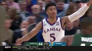 Kansas vs. Michigan State Men's Basketball Highlights