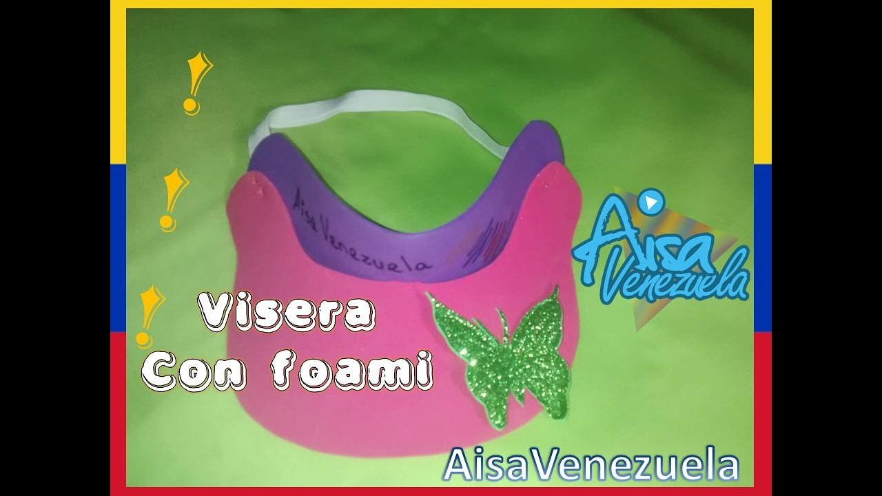 patrones de moda compras venta profesional Como hacer una visera con foami o gorra  AisaVenezuela