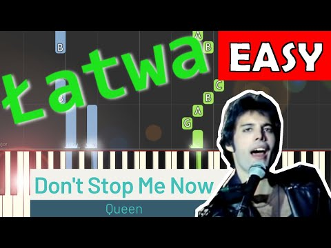 🎹 Don't Stop Me Now (Queen) - Piano Tutorial (łatwa wersja) 🎹