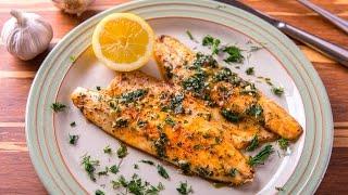 Рыба в соусе из зелени