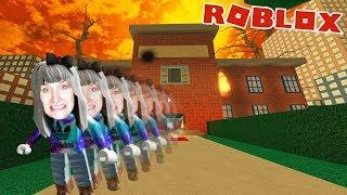 Roblox: FROM BURNING SCHOOL - Nina flees from Klomonster | ESCAPE SHRUNKEN SCHOOL