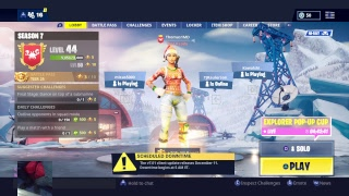 LIVE Fortnite Season 7 Gameplay // Solo gOd 1600+ Wins // Level 43 Lynx Gameplay