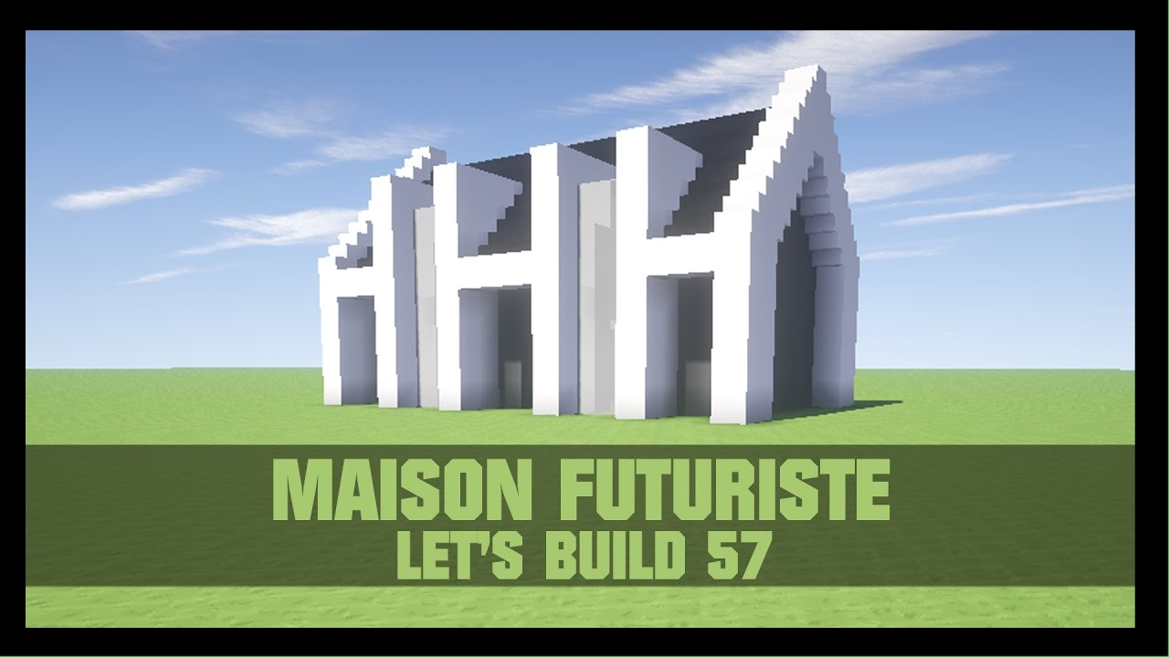 tuto comment construire une maison futuriste dans minecraft youtube. Black Bedroom Furniture Sets. Home Design Ideas