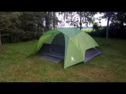 Woods Creekside 4 Tent Review & Woods Creekside 4 Tent Review - YouTube
