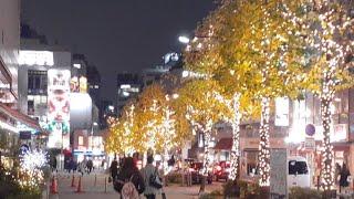 東京池袋駅‼️街とイルミネーション散歩‼️有名YouTuberと待ち合わせ❗