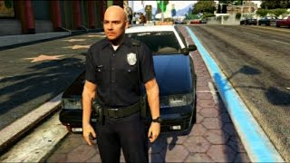GTA V - Emergency Lights Without Siren (Patched) & LSPD Officer Mod