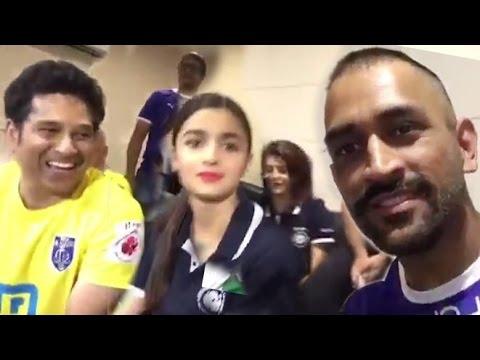 MS Dhoni & Sachin's Funny Moments At ISL...