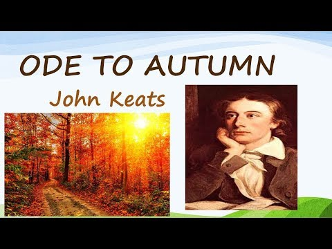 the process of autumn in the poem to autumn by john keats Ode to autumn by john keats  the next three lines describe the process of threshing grain  analysis of poem  to autumn  by john keats by andrew spacey 0.